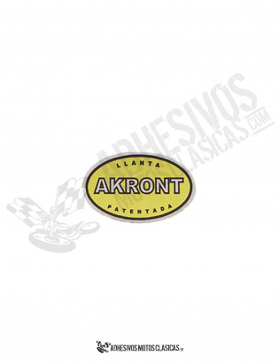 AKRONT YELLOW Chrome Sticker