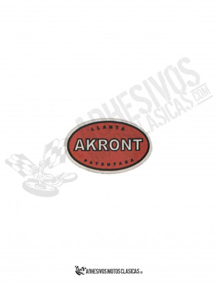 AKRONT RED Chrome Sticker