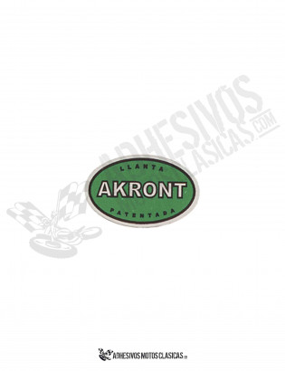 AKRONT VERDE Chrome Sticker