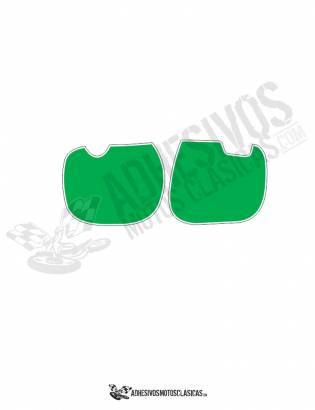 DERBI RC Number Panels GREEN Stickers