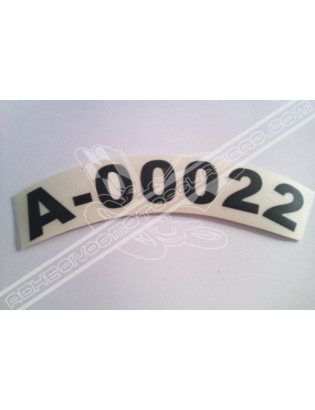 Mudguard Plate Sticker