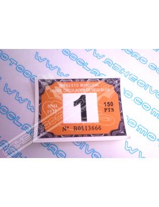 Road Tax Sticker 1972