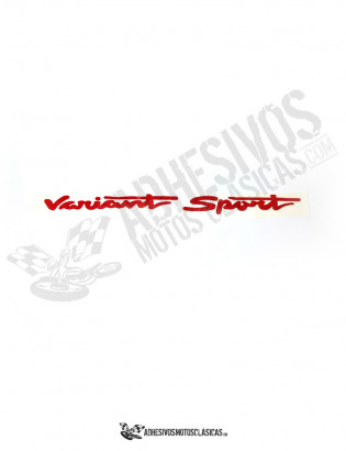 Adhesivo DERBI Variant Sport color rojo