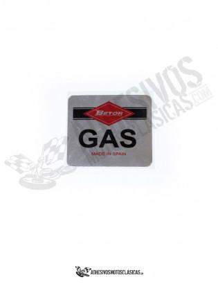Betor GAS Chromed Sticker