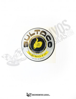 BULTACO grey Sillicone Resin Sticker