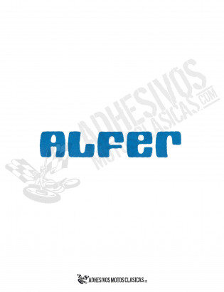 ALFER blue Sticker