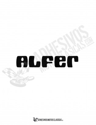 ALFER black Sticker