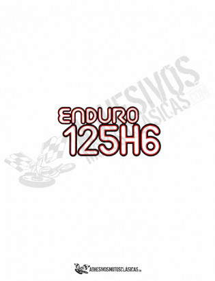 Adhesivos MONTESA Enduro 125 H6