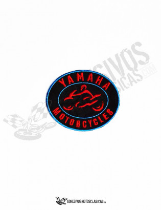 yamaha motorcycles black patch