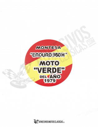 MONTESA Enduro Moto Verde Sticker