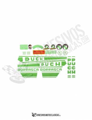 PUCH Borrasca 2st Series Stickers KIT