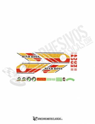 Minicross 3 PUCH Stickers KIT