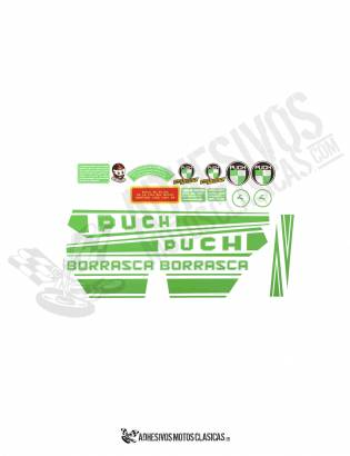 JUEGO DE Adhesivos PUCH Borrasca 1ª Serie