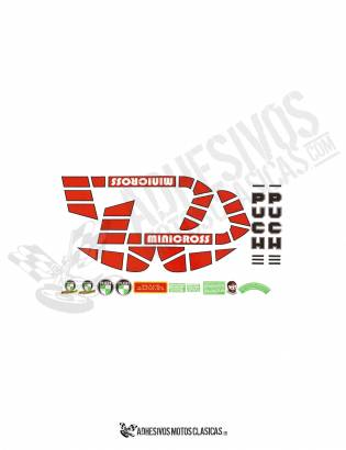 Minicross TT PUCH Stickers KIT