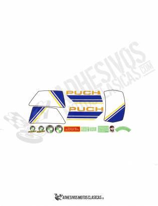 Juego de Adhesivos PUCH Condor MD 85 AMARILLOS