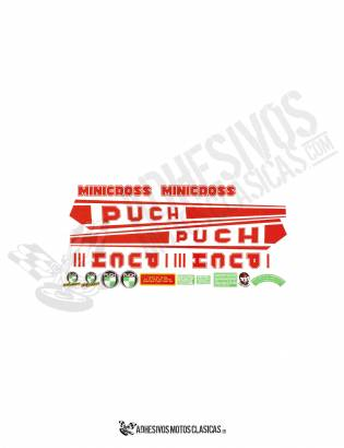 Minicross III Red PUCH Stickers KIT