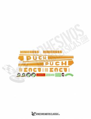 Minicross III Orange PUCH Stickers KIT
