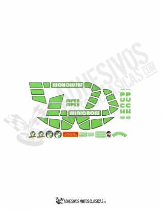 Juego de Adhesivos PUCH Minicross Super 2