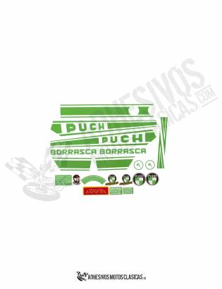 Borrasca PUCH Stickers KIT