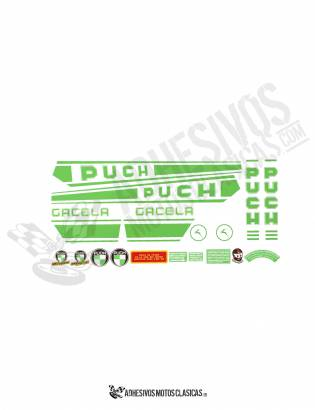 GREEN PUCH Gacela  Stickers kit