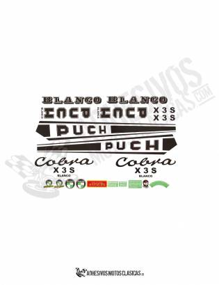 PUCH Cobra XS3 BLANCO Stickers KIT