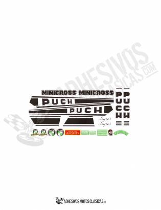 Minicross Super PUCH Stickers KIT