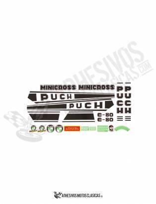 Juego de Adhesivos PUCH Minicross E-80