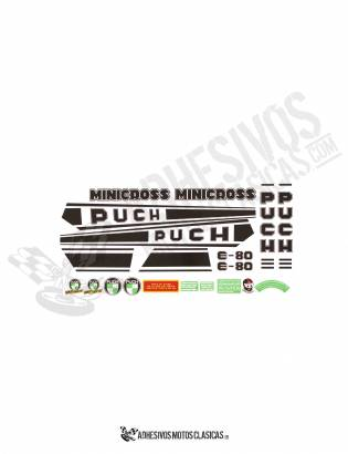 Minicross E-80 PUCH Stickers KIT