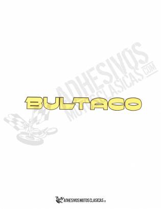 BULTACO Yellow Stickers