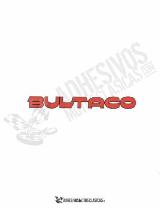 BULTACO Red Stickers