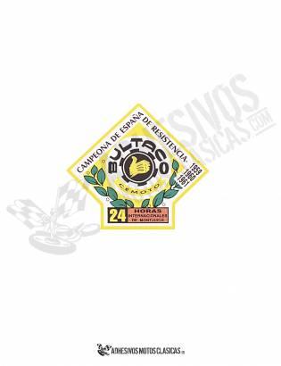 BULTACO 24H Squared Sticker