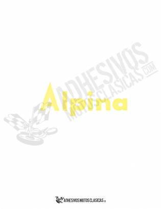 Adhesivo BULTACO Alpina Amarillo
