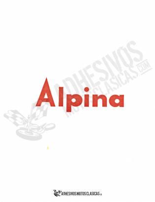 Adhesivo BULTACO Alpina Rojo
