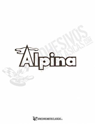 Adhesivo BULTACO Alpina Blanco