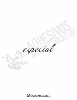 BLACK ESPECIAL Sticker