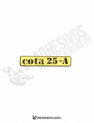 Adhesivo amarillo MONTESA Cota 25-A