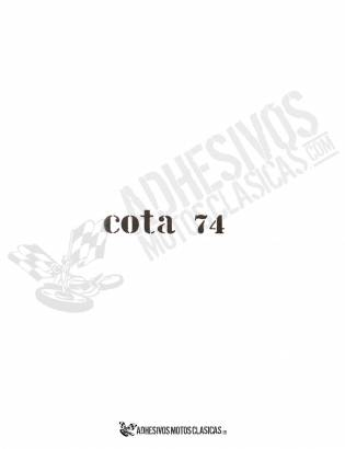 MONTESA Cota 74 White Sticker