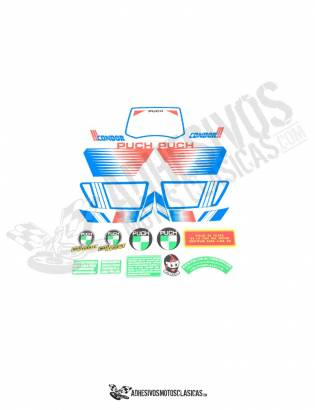 Condor 3 White PUCH Stickers KIT