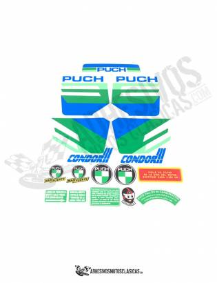 PUCH Condor 3 Yellow Stickers KIT