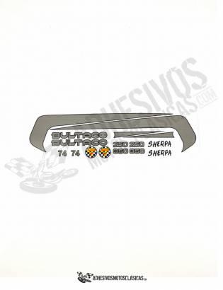 Juego de Adhesivos BULTACO Sherpa 350 -250 - T 74