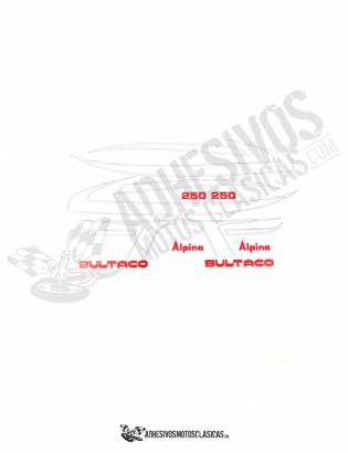 BULTACO Alpina 250 Stickers kit