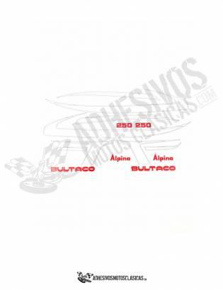 Juego de Adhesivos BULTACO Alpina 250
