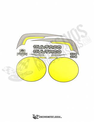 Juego de Adhesivos Bultaco Pursang MK10 370