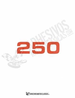 250 BULTACO STICKER