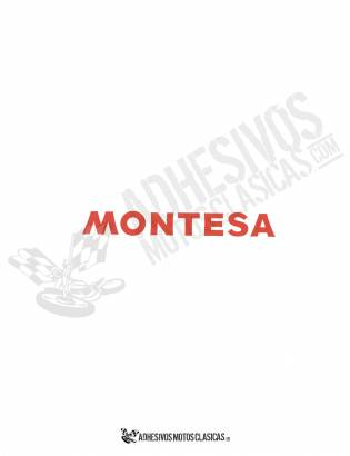 MONTESA 16x3cm Red Stickers