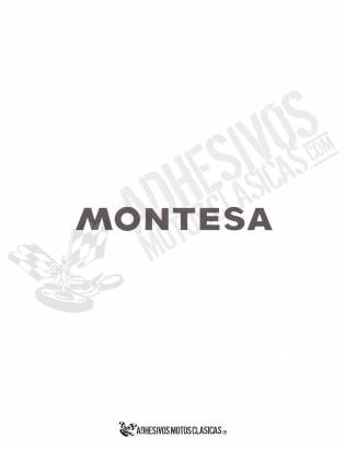 MONTESA 16x3cm Black Stickers