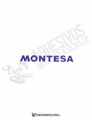 MONTESA 16x3cm Blue Stickers