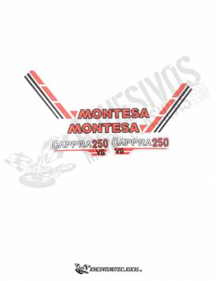 MONTESA Cappra 250 VG Stickers KIT