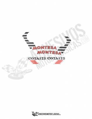juego de Adhesivos MONTESA Cota 123