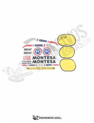 MONTESA Enduro 360 H7 1st series Stickers kit